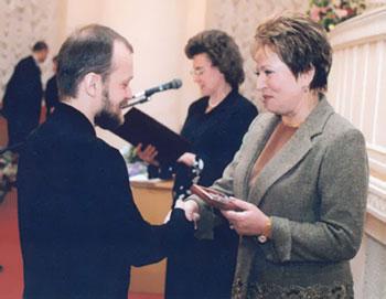 Вручение медали Привалову С. Б.